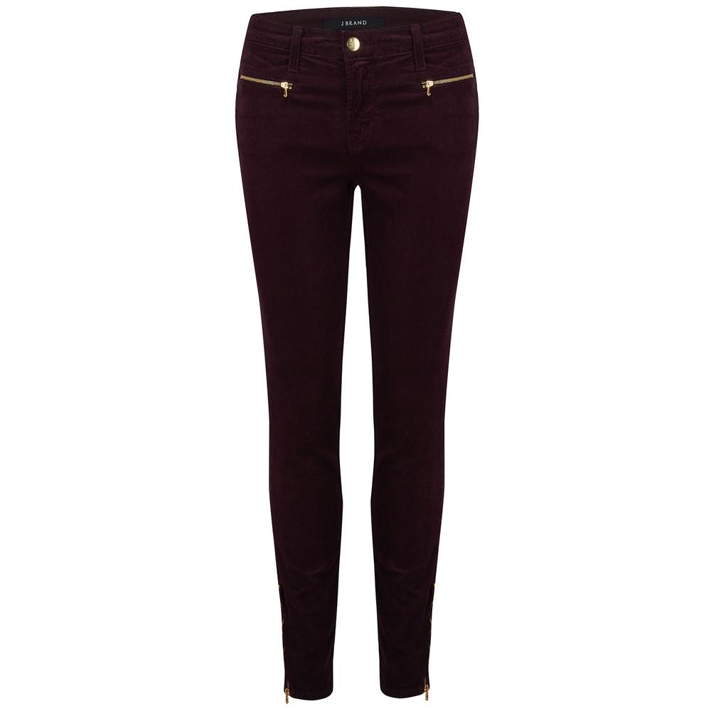 Iselin Corduroy Zip Jeans - Blackberry