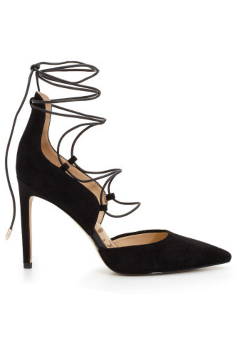 Sam Edelman Helaine Suede Lace Up Heel - Black main image