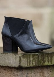 Hudson London Crispin Leather Ankle Boots - Black
