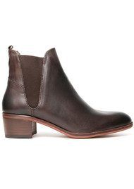 Hudson London Compound Leather Boot - Brown