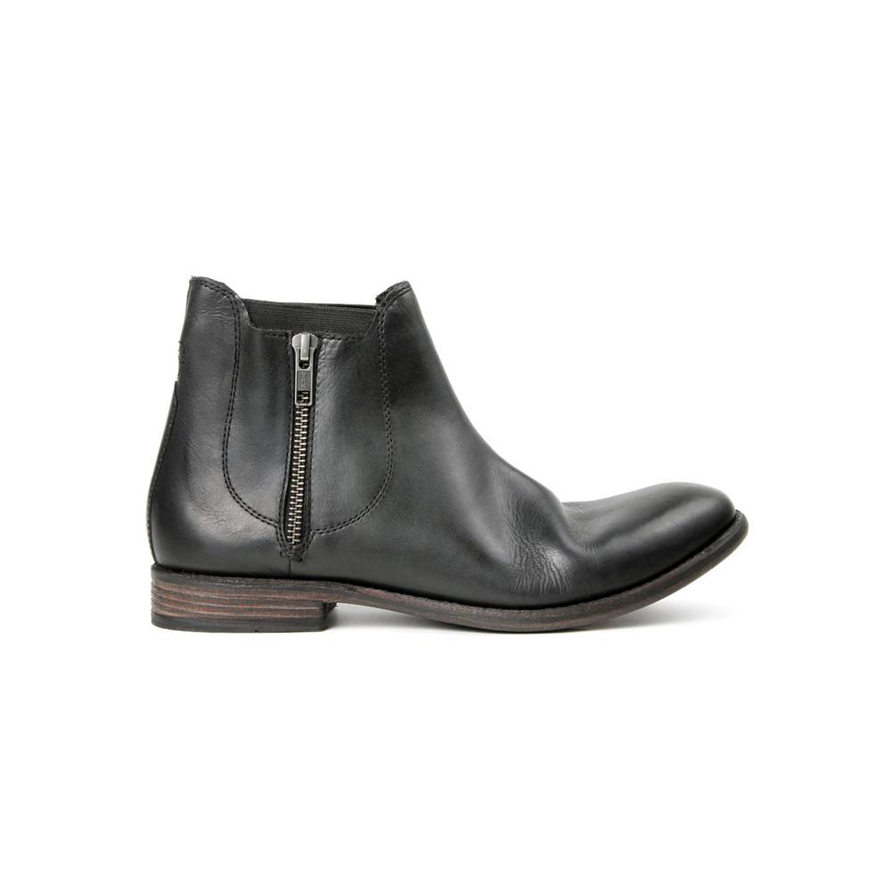 Algoma Leather Boot - Black