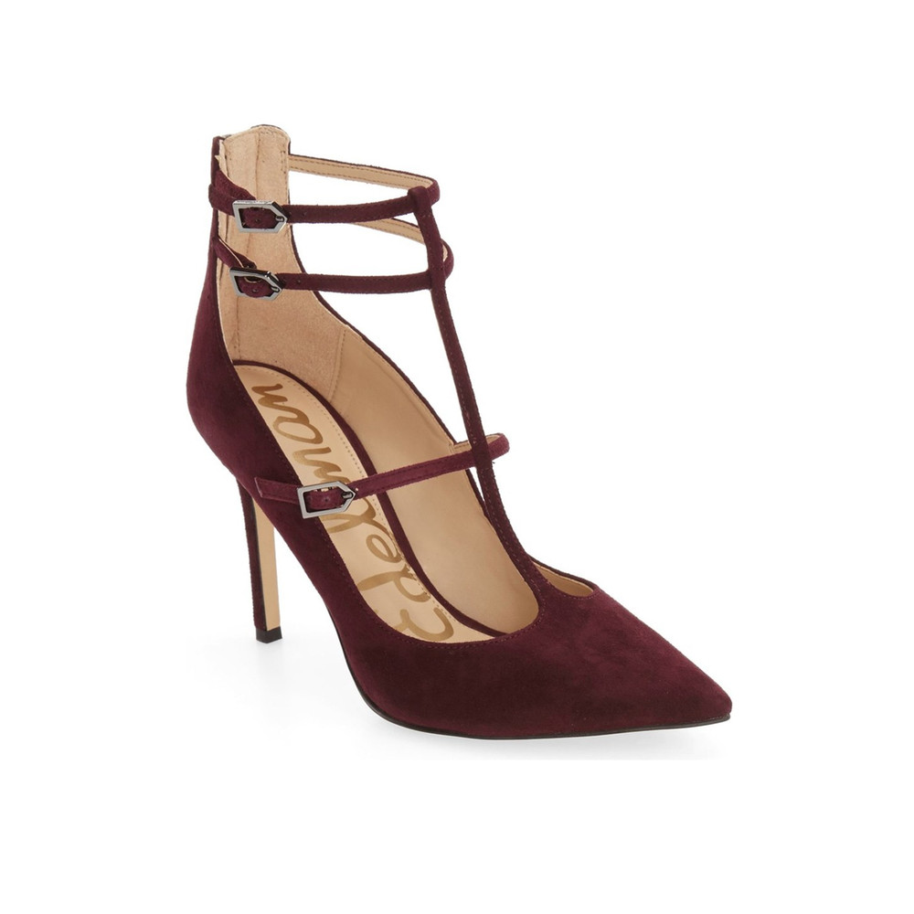 Hayes Black Suede Heels - Port