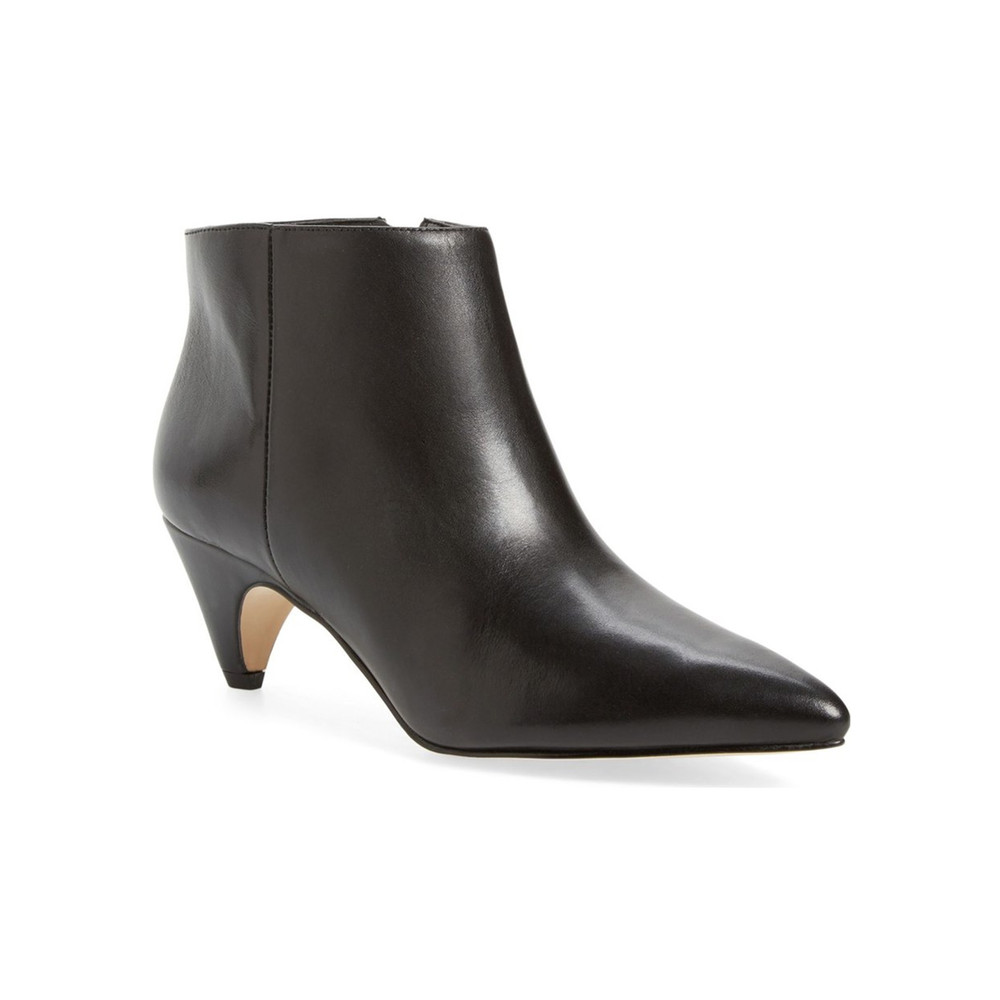 Lucy Leather Ankle Boot - Black