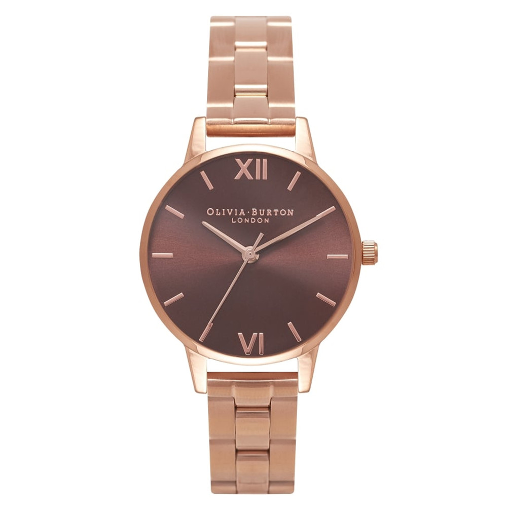 Midi Brown Dial Bracelet Watch - Rose Gold