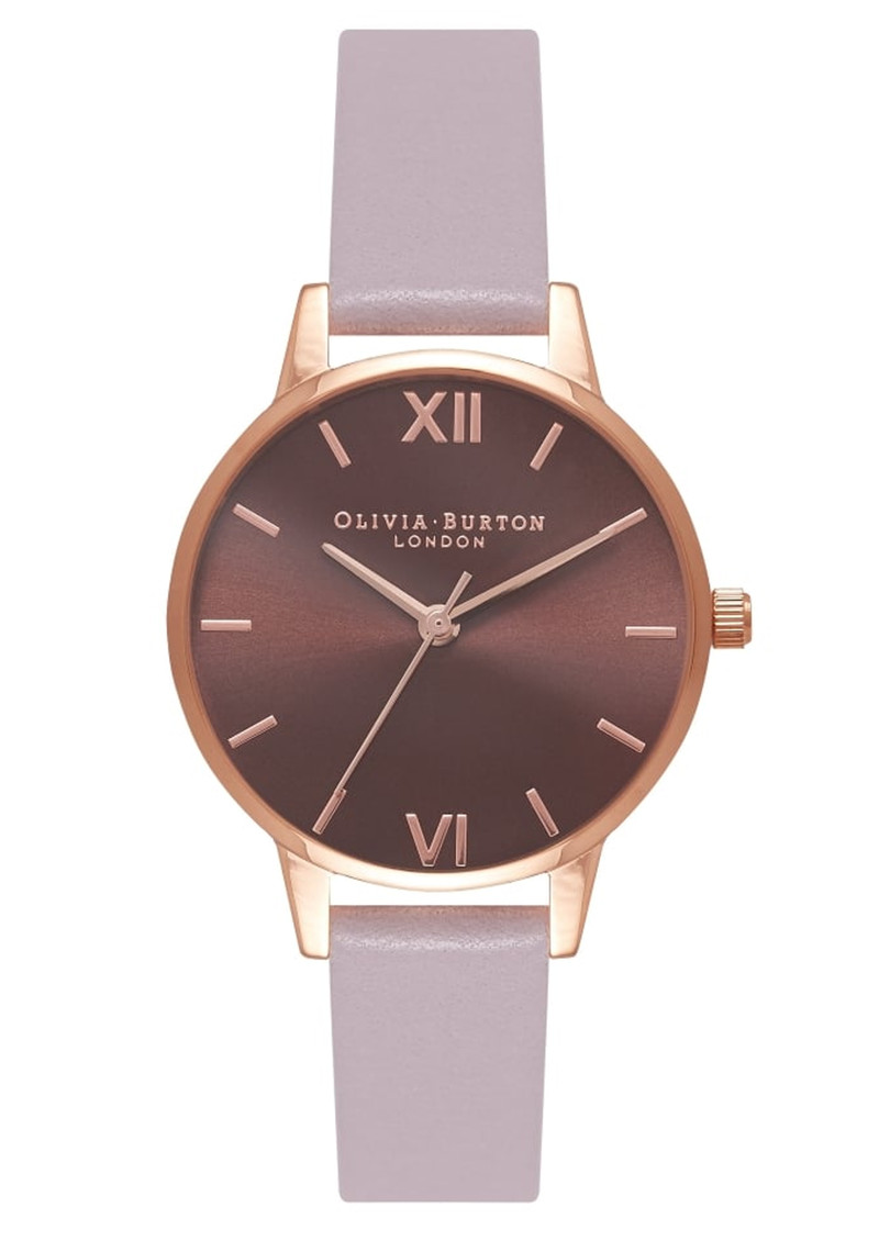Midi Brown Dial Watch - Grey Lilac & Rose Gold main image