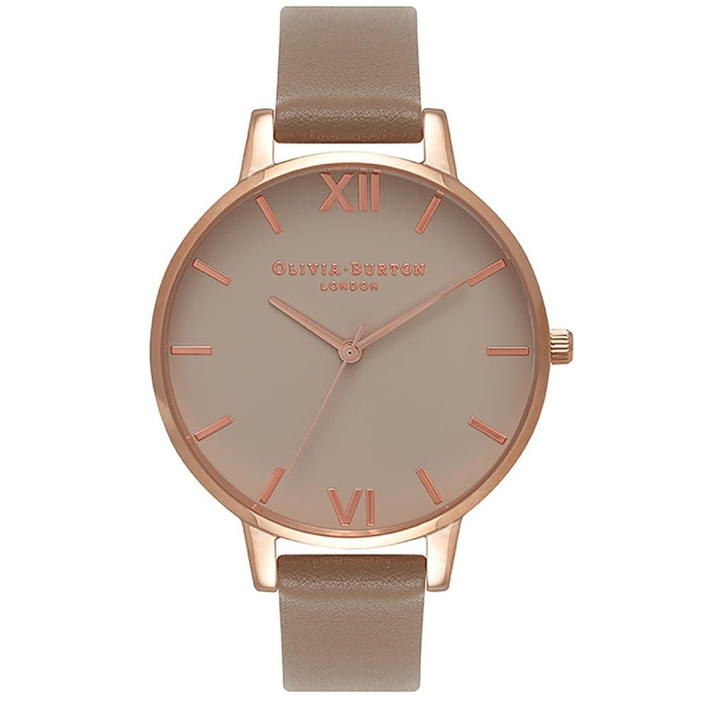 Big Greige Dial Watch - Taupe & Rose Gold