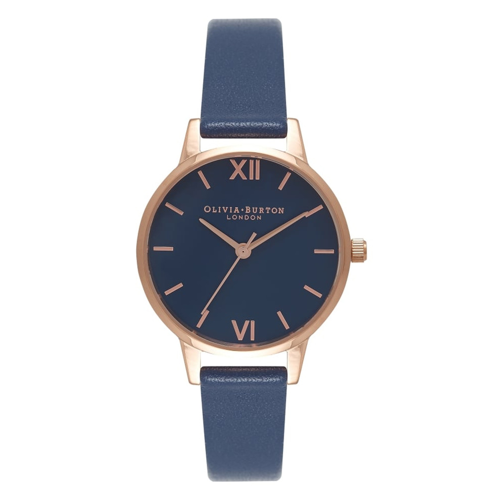 Midi Navy Dial Watch - Navy & Rose Gold