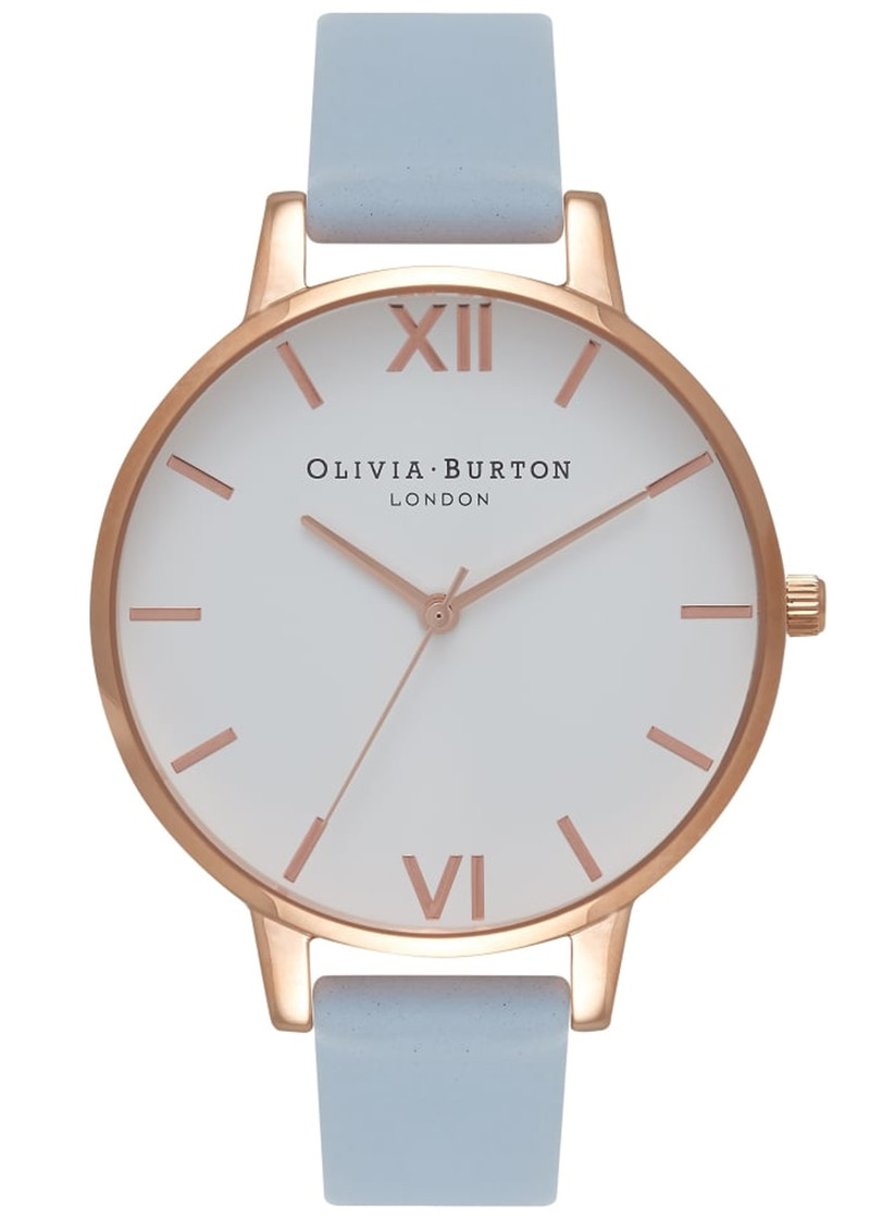 Olivia Burton Big Dial White Dial Watch - Chalk Blue & Rose Gold main image