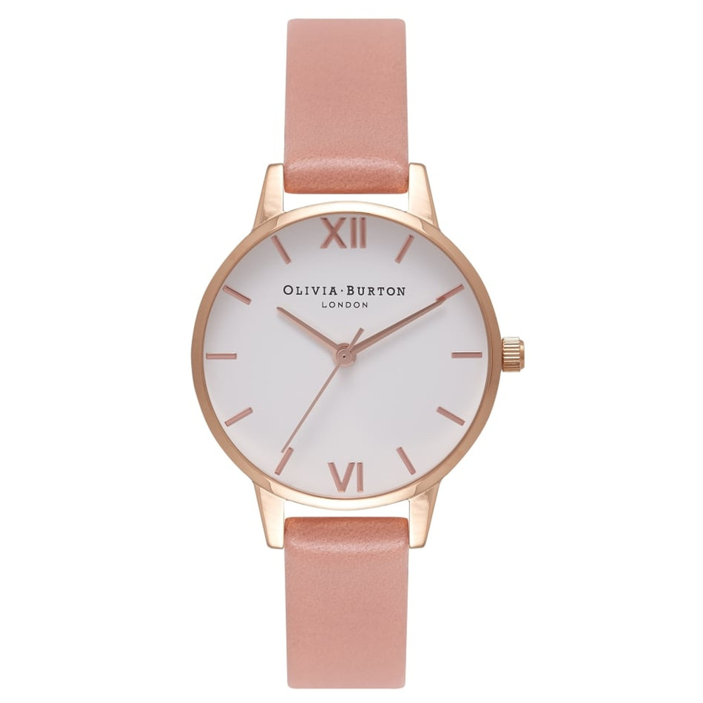 Midi White Dial Watch - Rose & Rose Gold