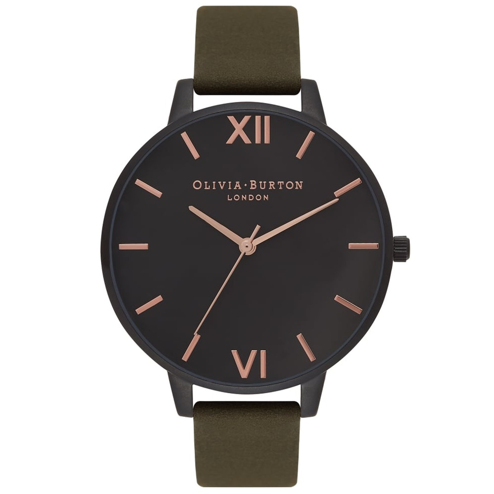After Dark Ip Black Watch - Khaki & Rose Gold