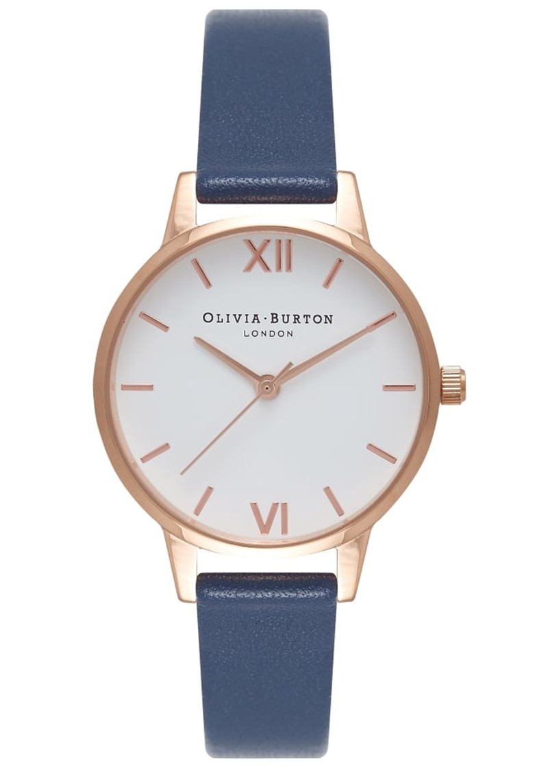 Midi Dial White Dial Watch - Navy & Rose Gold main image