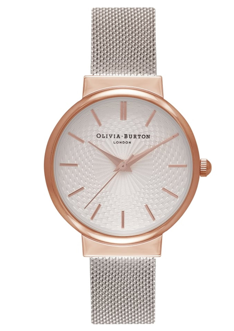 Olivia Burton The Hackney Mesh Watch - Rose Gold & Silver main image