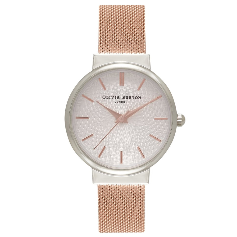 The Hackney Mesh Watch - Silver & Rose Gold