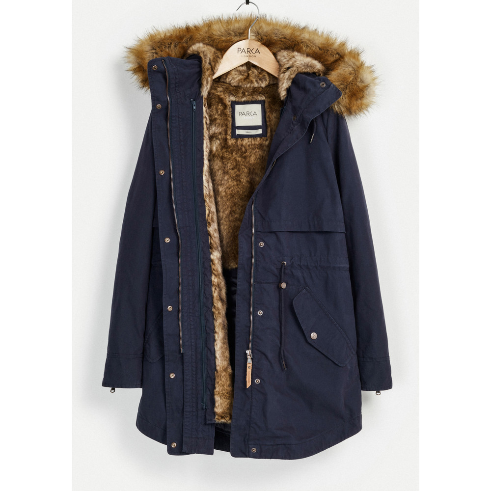 Lara Essential Parka - Navy