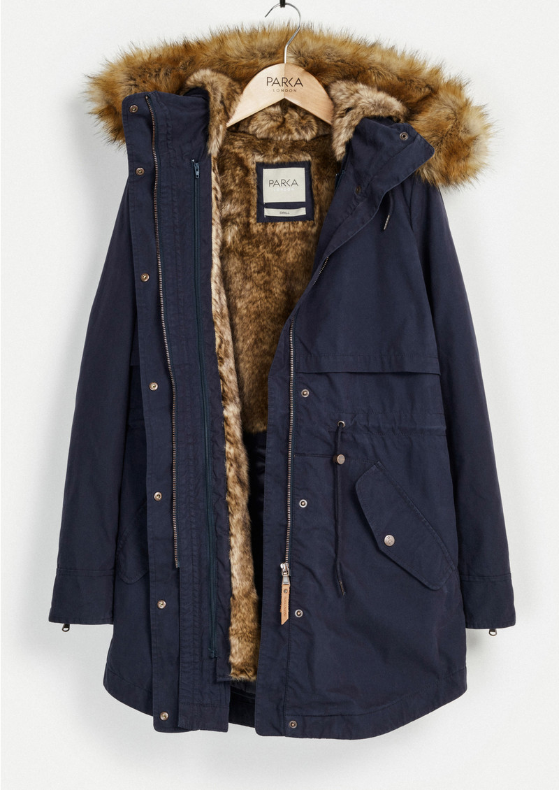 PARKA LONDON Lara Essential Parka - Navy main image