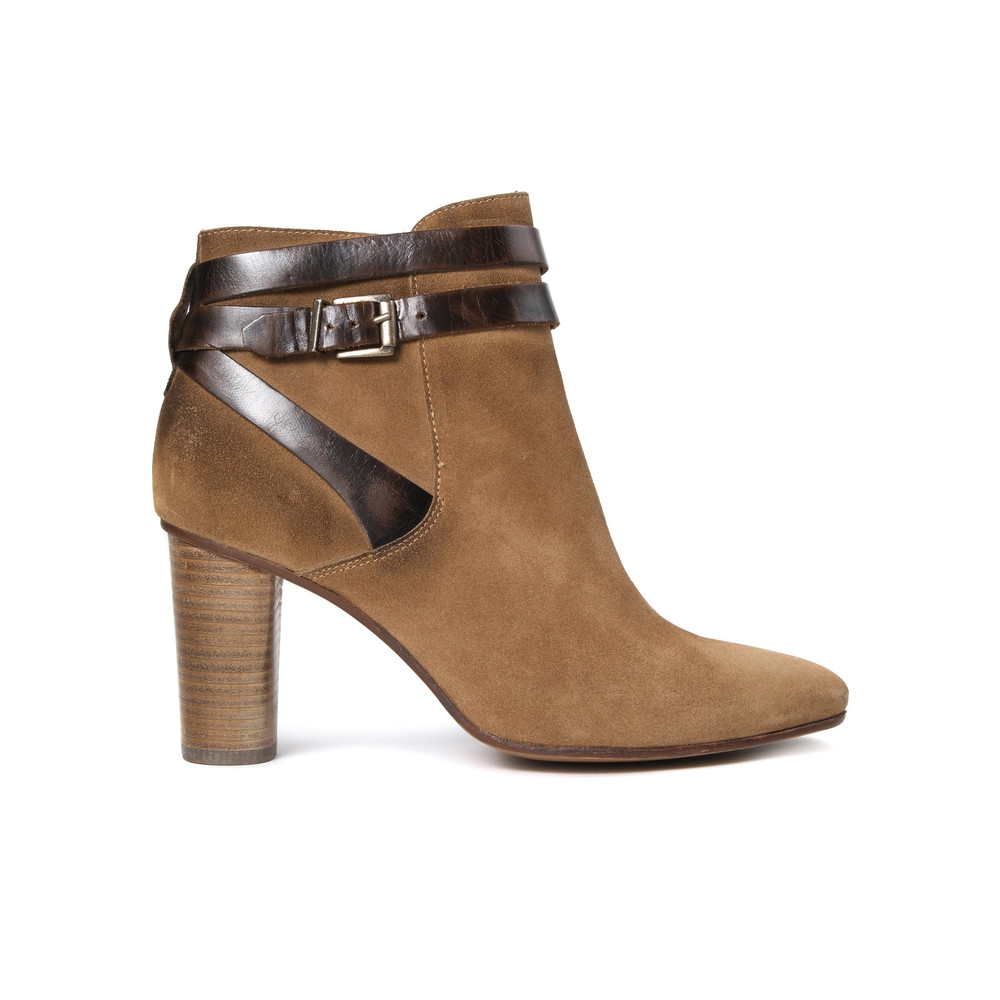 Mirla Suede Boots - Tan