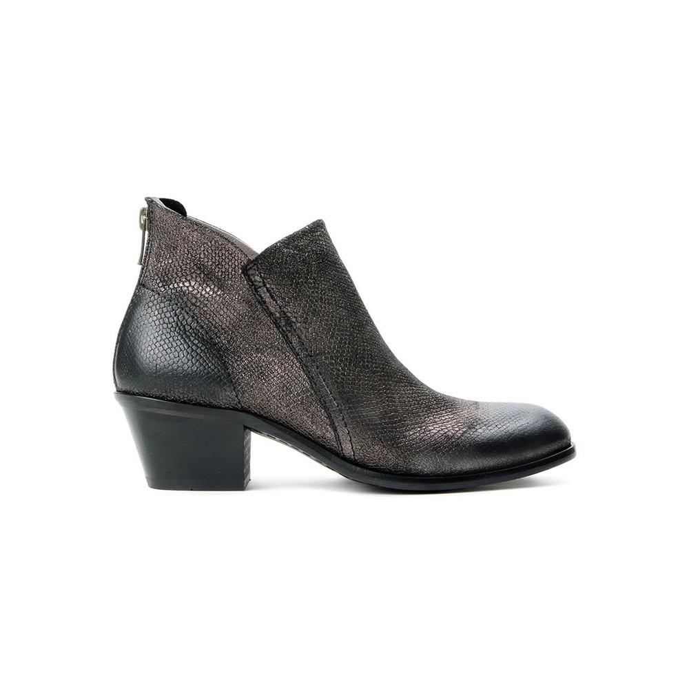 Apisi Metallic Leather Boot - Pewter