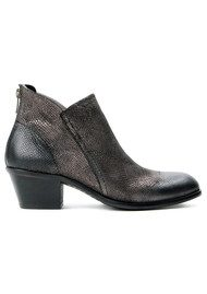 Hudson London Apisi Metallic Leather Boot - Pewter