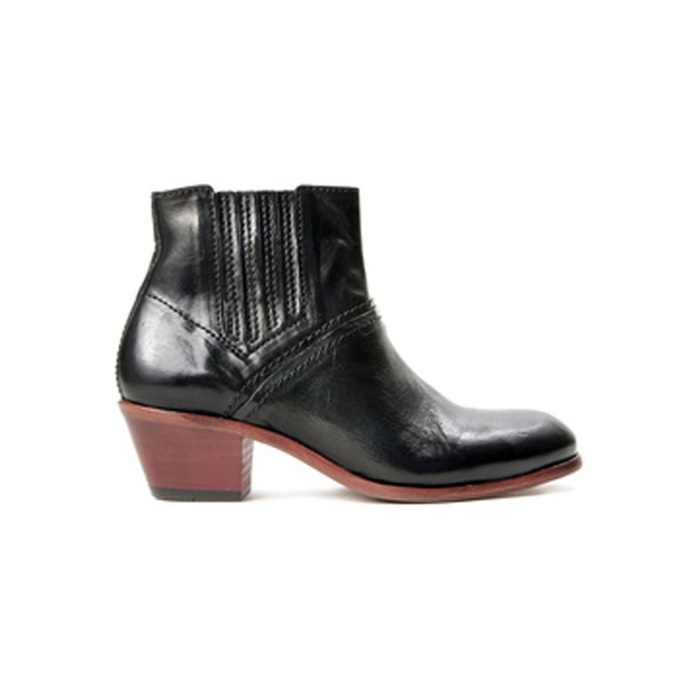 Paige Leather Boots - Black