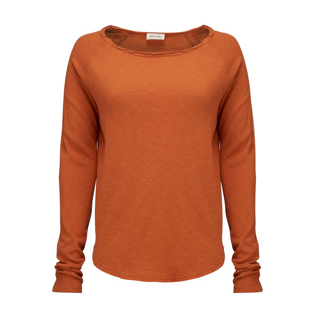 Sonoma Long Sleeve Top - Tangerine
