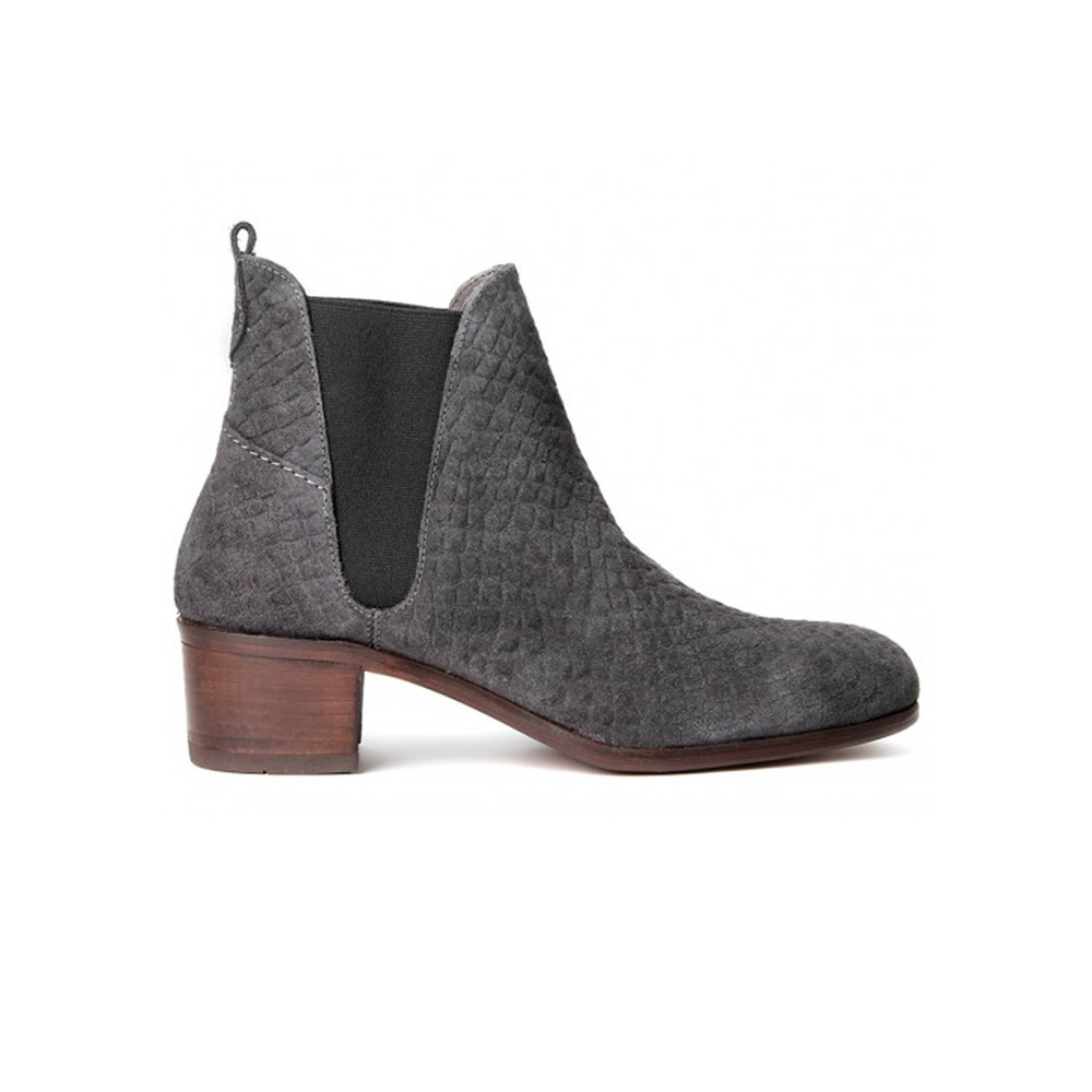Compound Suede Boot - Charcoal