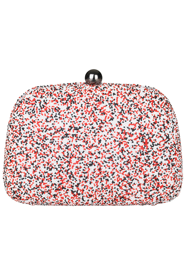 Poppy Embellished Box Clutch - Multi Coloured main image