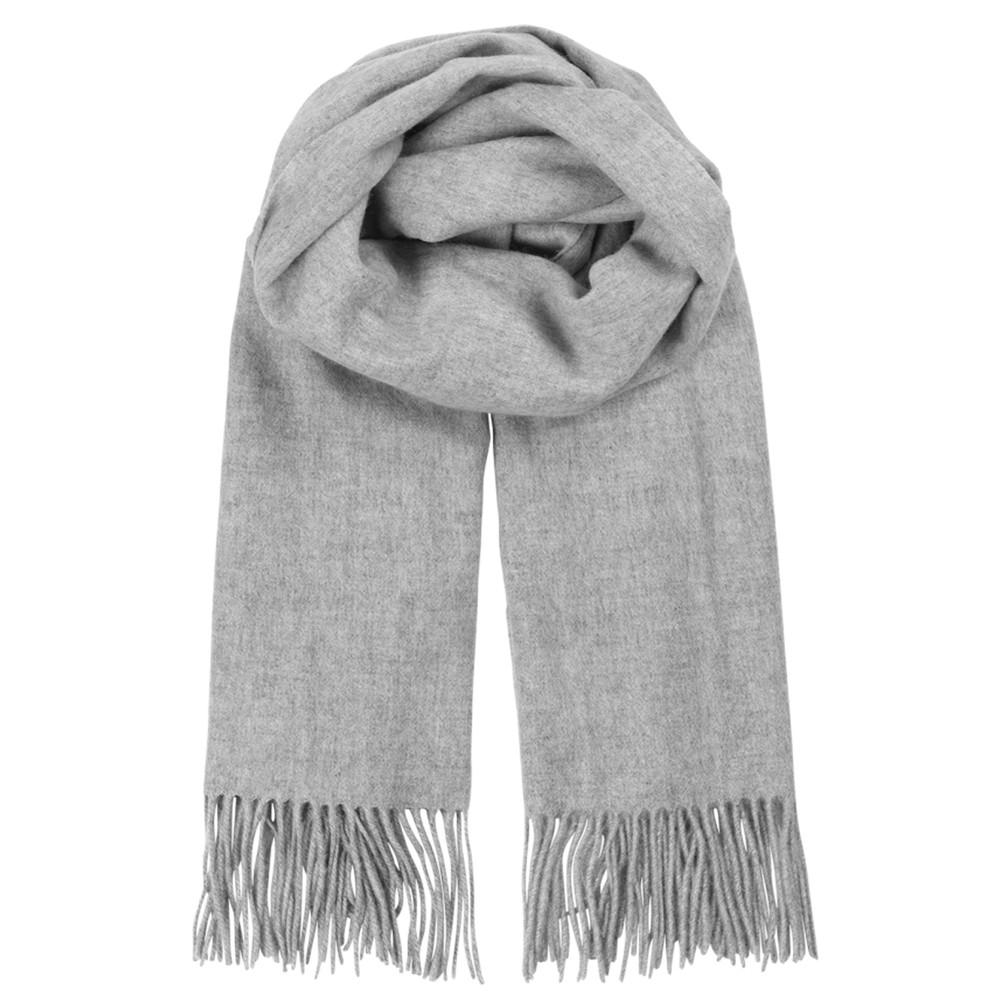 Crystal Wool Scarf - Light Grey Melange