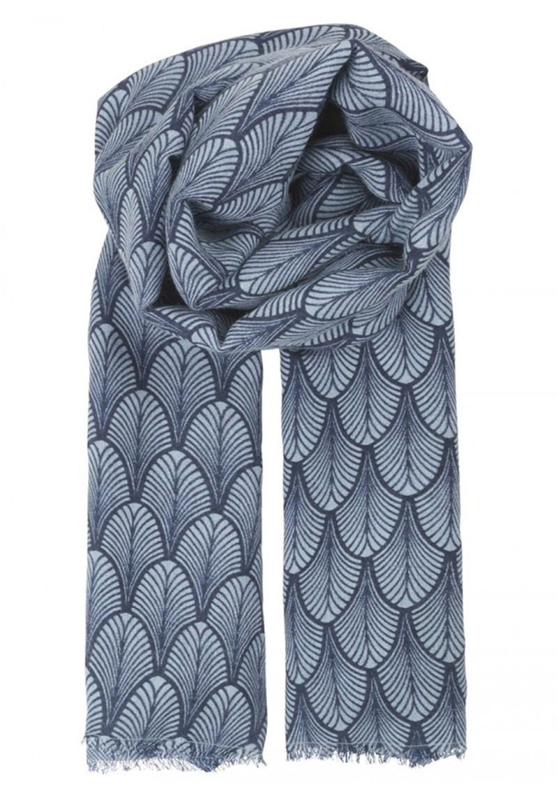 Louvre Silk Blend Scarf - Classic Navy main image