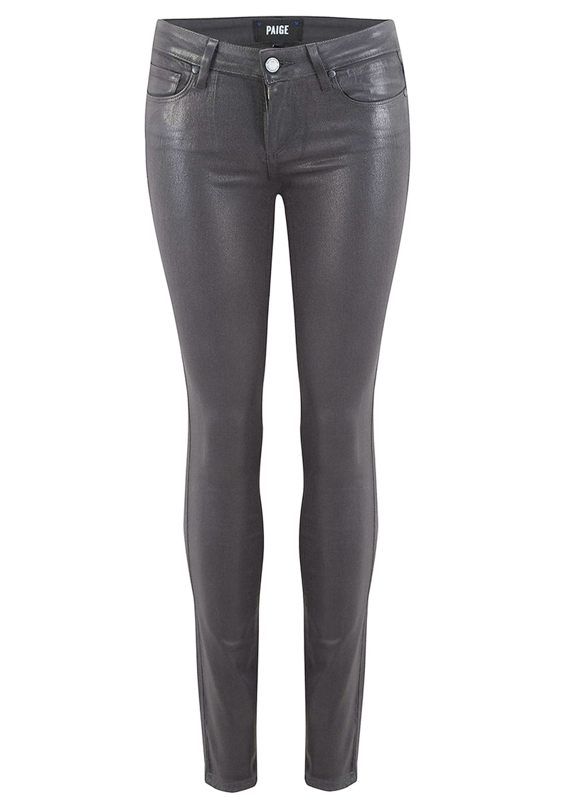 Paige Denim Verdugo Ultra Skinny Luxe Coated Jeans - Smoke Grey main image