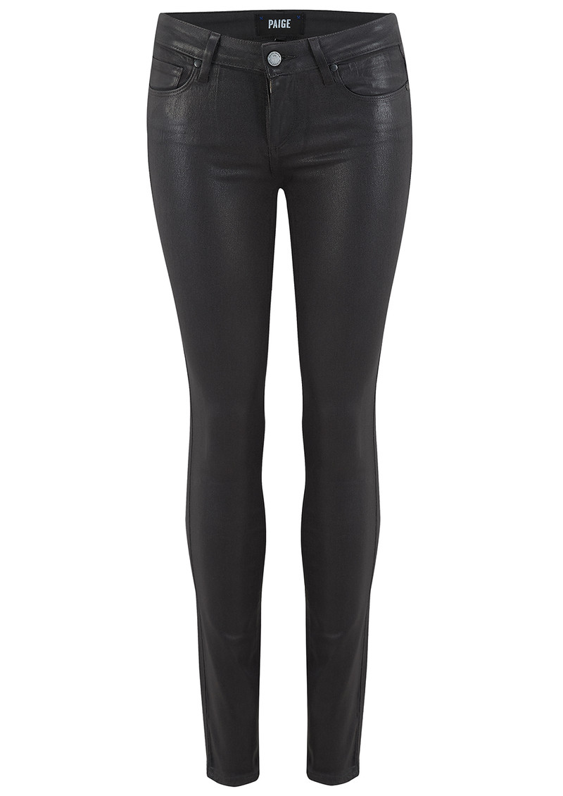 Paige Denim Verdugo Ankle Luxe Coating Jeans - Black Fog main image