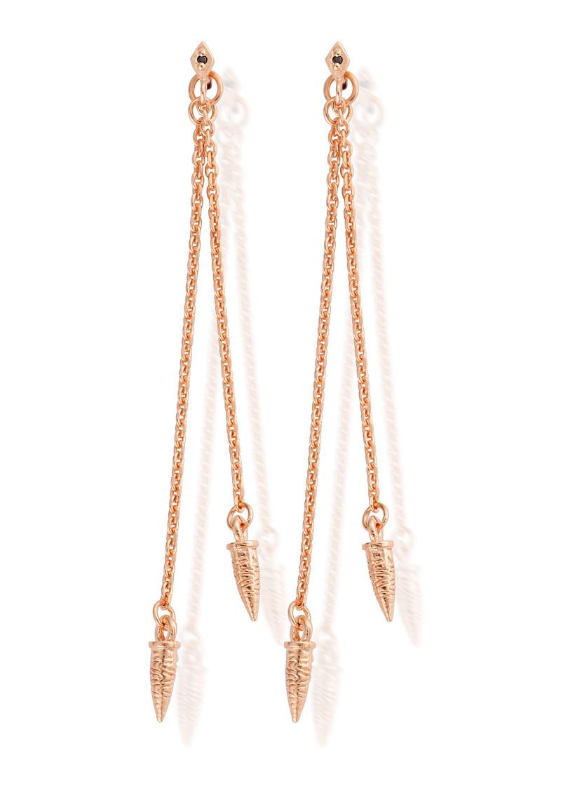 ChloBo Gypsy Dreamer Tarantella Drop Earrings - Rose Gold main image