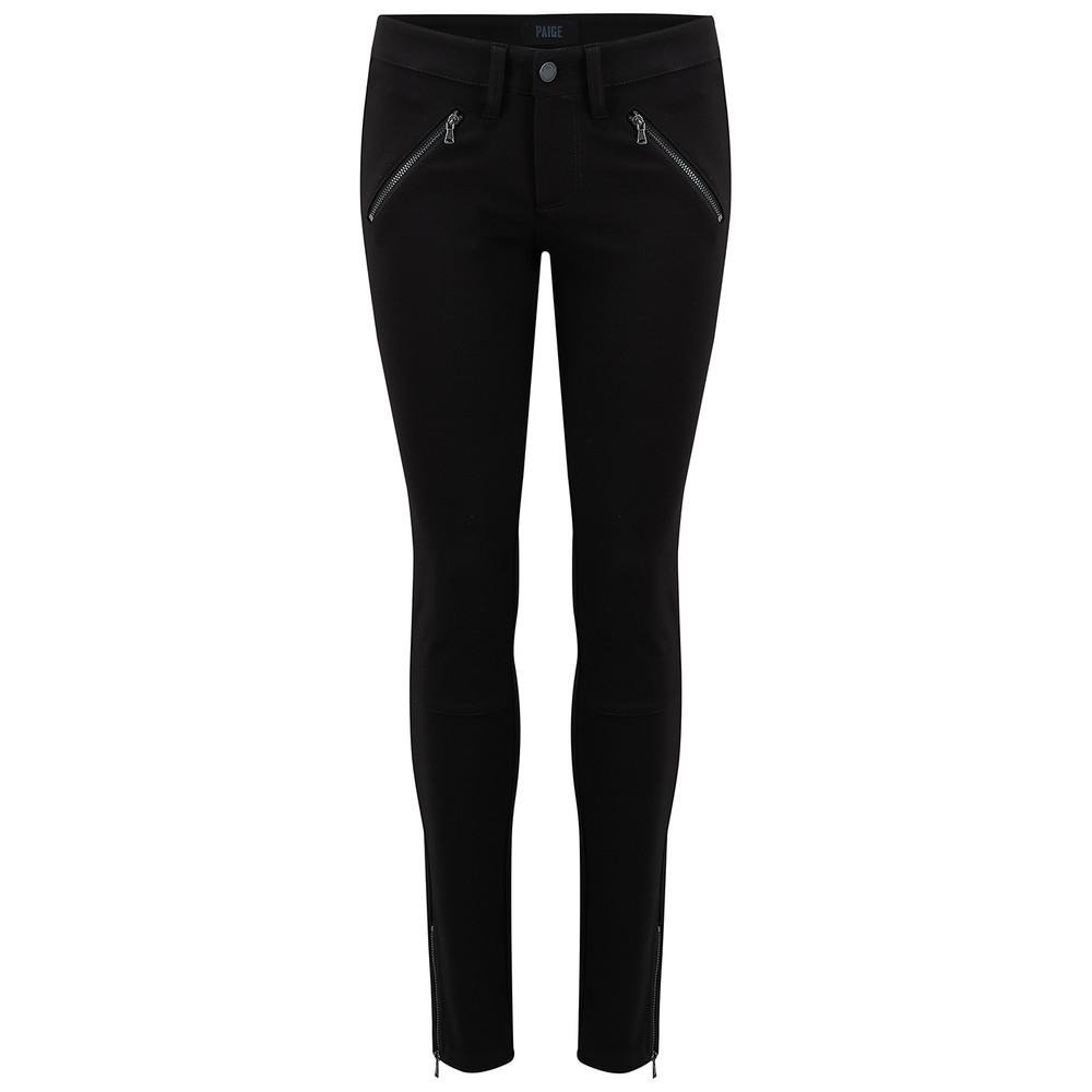 Dover Zip Ankle Pant - Black Ponte