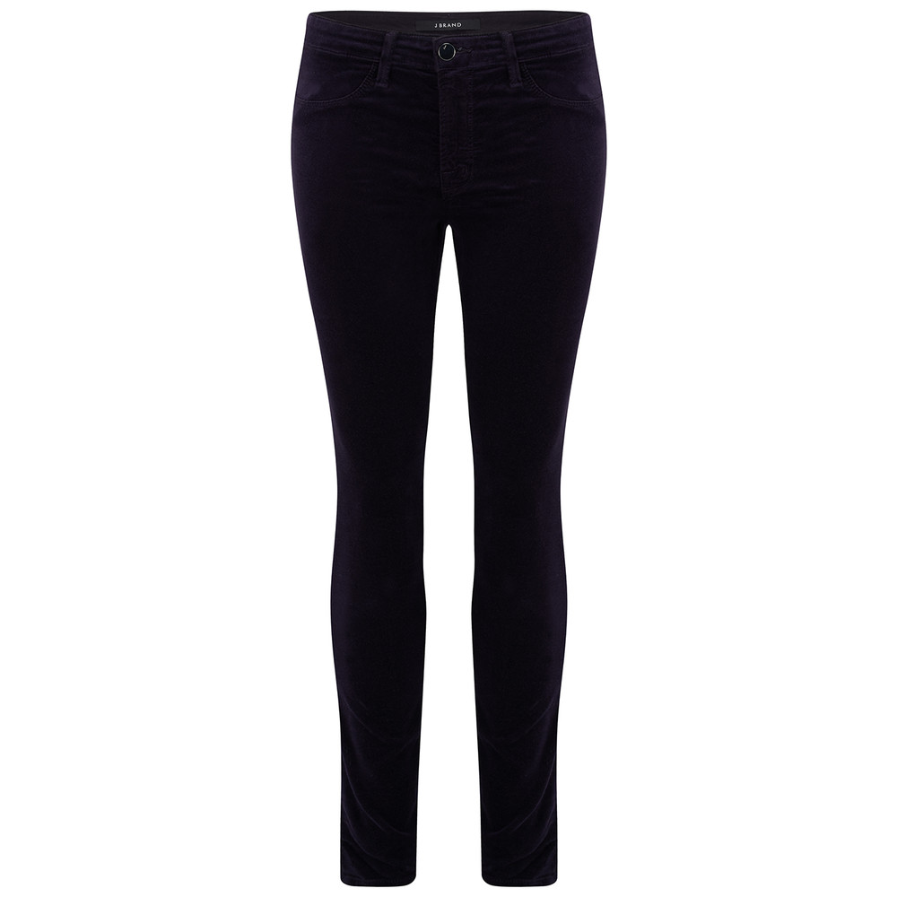 Mid Rise Super Skinny Velveteen Jeans - Twilight Purple