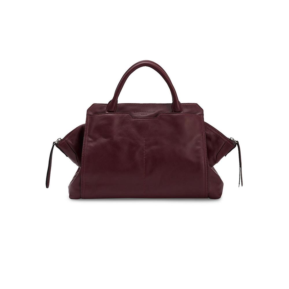 Fuji Leather Bag - Ruby
