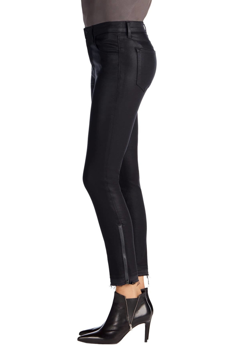 J Brand Alana High Rise Crop Coated Jeans with Released Hem - Coated Dust  main image