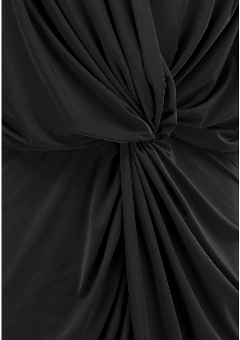 MISA Los Angeles Teget Bell Long Sleeve Twist Dress - Black  main image
