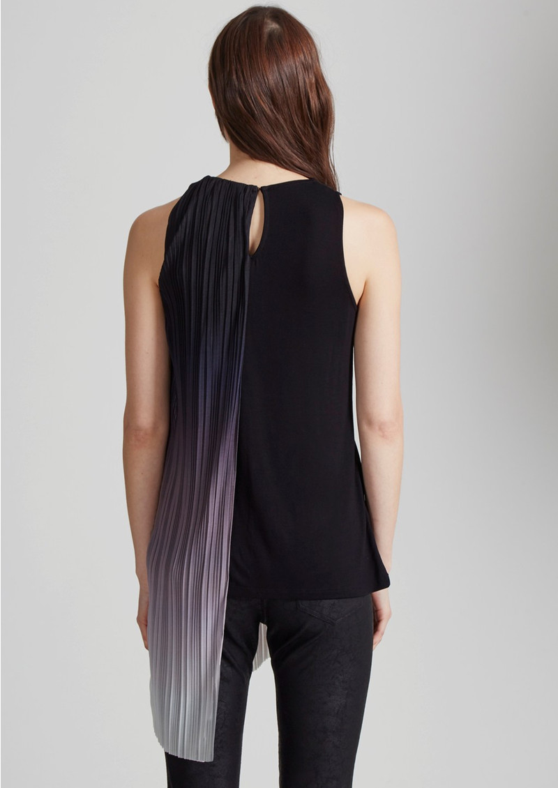 Great Plains Fade Out Asymmetric Top - Black, Pink Opal and White Ombre main image