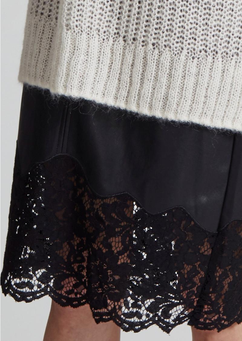 Great Plains Chicago Lace Trim Skirt - True Black main image