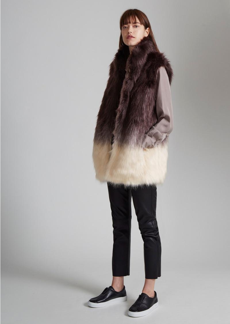 Great Plains Mimi Faux Fur Gilet - Ombre main image