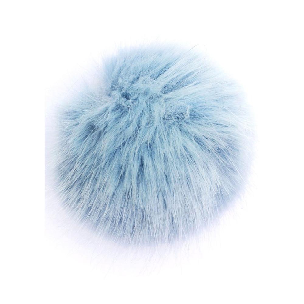 Faux Fur Small Bobbl - Baby Blue