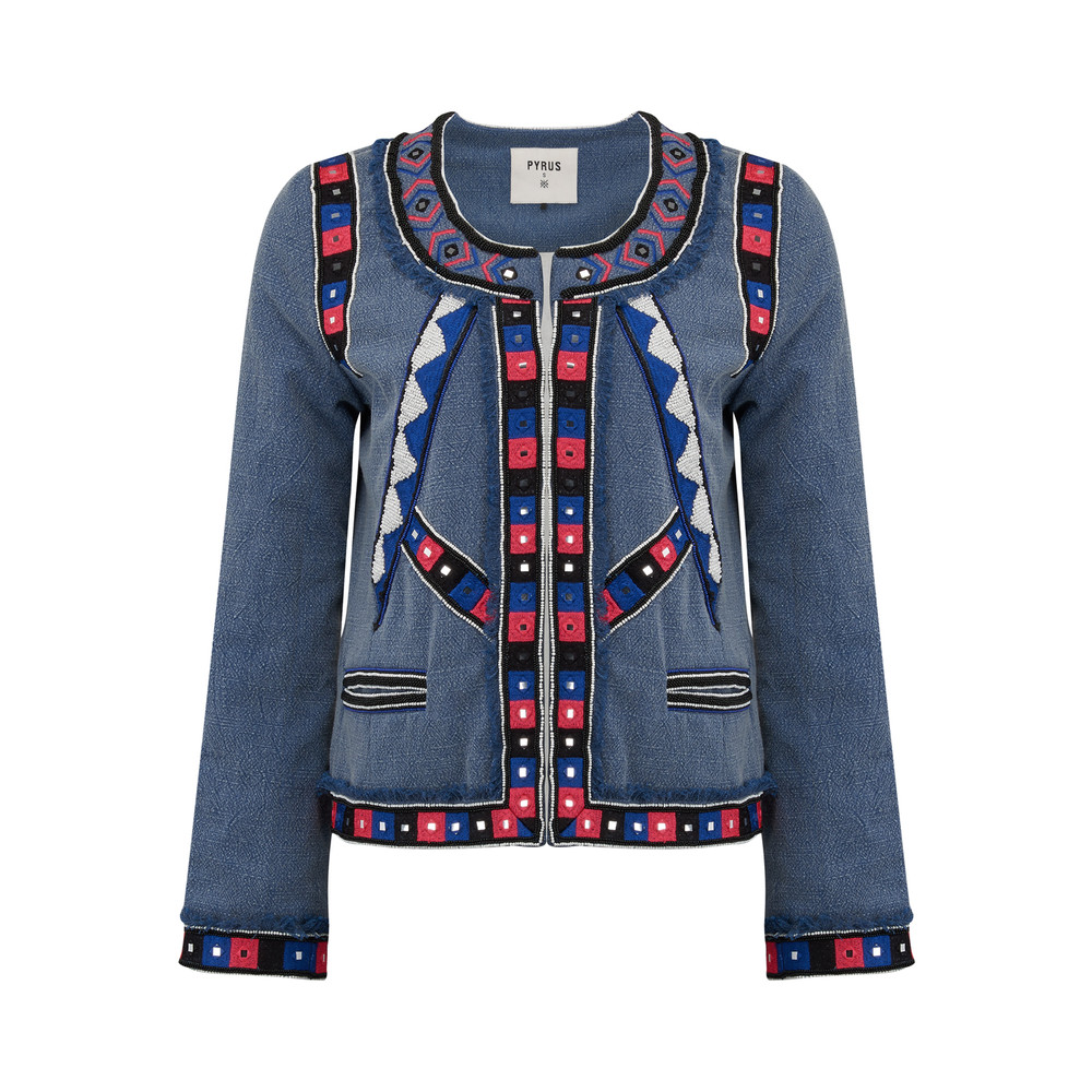 Embroidered Cotton Jacket - Multi