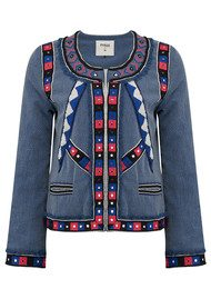 Pyrus Embroidered Cotton Jacket - Multi