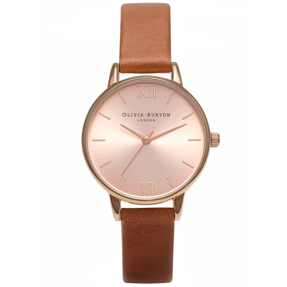 Midi Dial Watch - Tan & Rose Gold