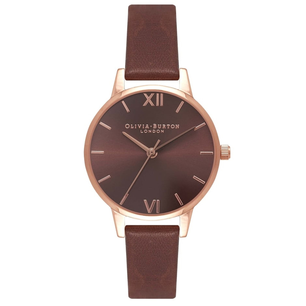 Midi Dial Brown Dial Watch - Brown & Rose Gold