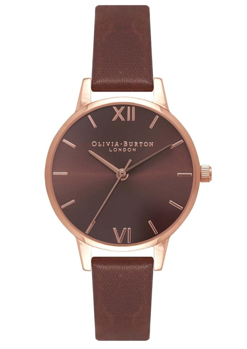 Olivia Burton Midi Dial Brown Dial Watch - Brown & Rose Gold main image