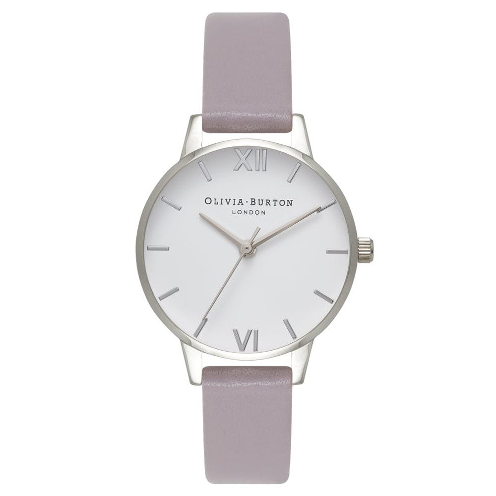 Midi Dial White Dial Watch - Grey Lilac & Silver