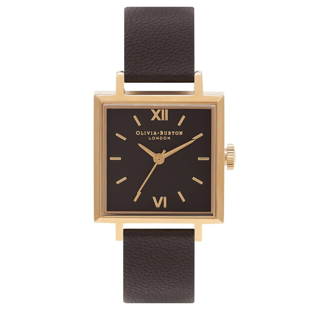 Square Dial Watch - Black & Gold