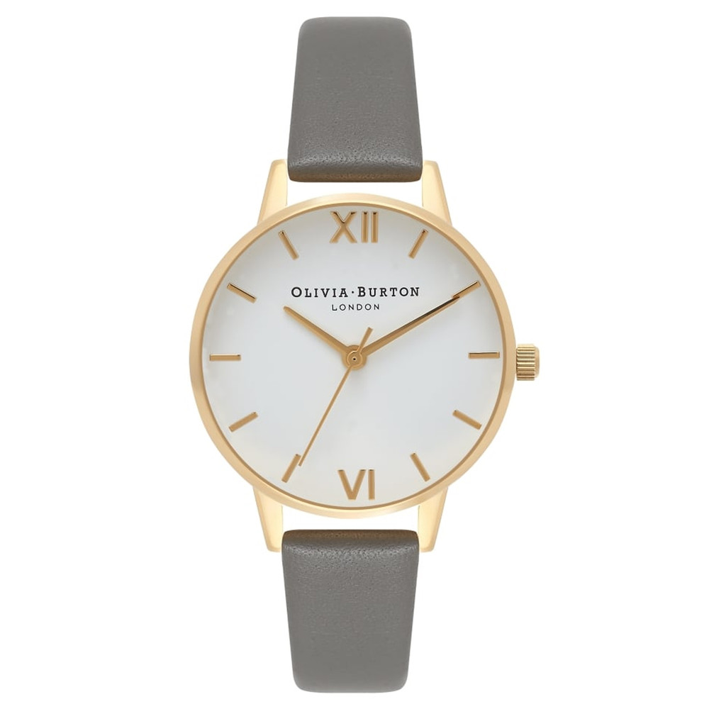 Midi Dial White Dial - Dark Grey & Gold