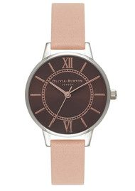 Olivia Burton Wonderland Brown Dial Watch - Nude Peach & Rose Gold