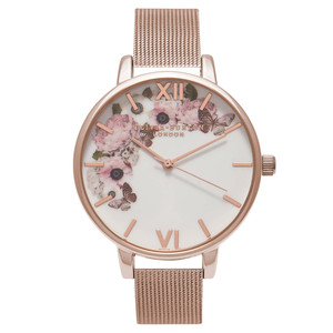 Winter Garden Mesh Watch - Rose Gold